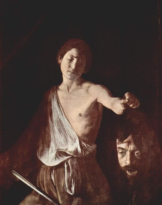 caravaggio's david with the head of